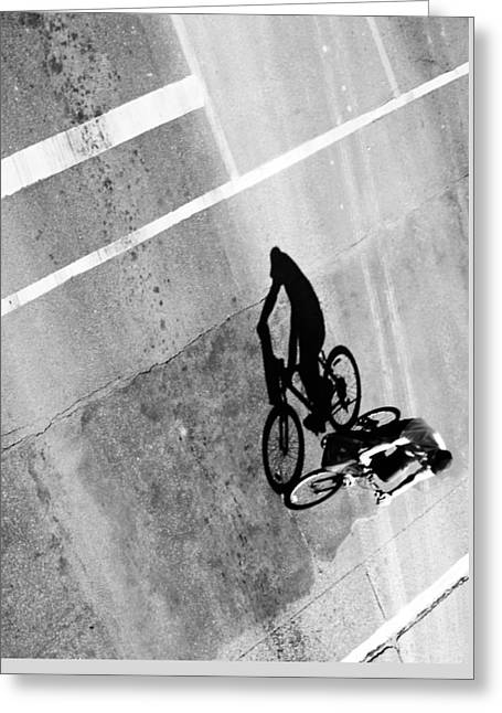Ladies Bike Greeting Cards - Wheeling in direct  Greeting Card by Jerry Cordeiro