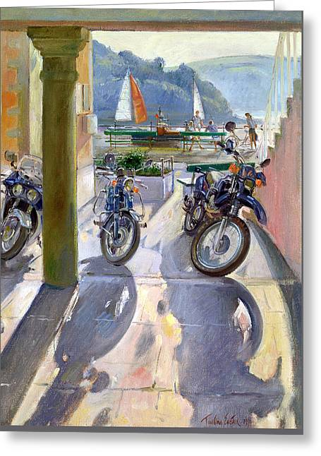 Signed Greeting Cards - Wheels and Sails Greeting Card by Timothy Easton