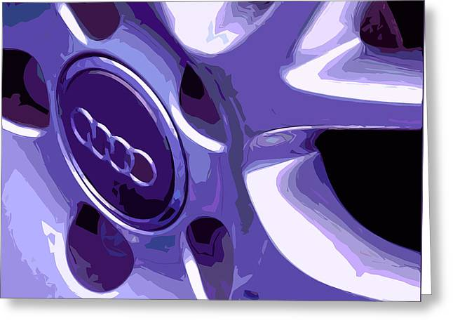 Purple Abstract Greeting Cards - Wheels Greeting Card by Jean Hall