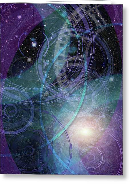 Wheels Within Wheels Greeting Card by Kenneth Armand Johnson