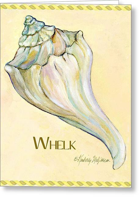 Labelled Greeting Cards - Whelk Greeting Card by Kimberly McSparran
