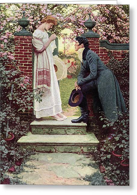 Dating Paintings Greeting Cards - When All the World Seemed Young Greeting Card by Howard Pyle