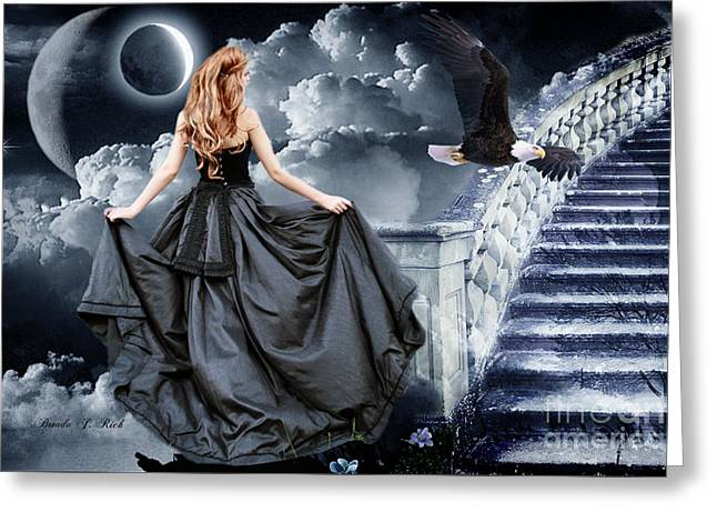 Ball Gown Greeting Cards - Stairway To Heaven Greeting Card by Brenda Rich