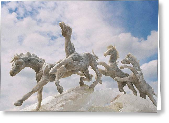 Marble Sculptures Greeting Cards - When I Look Up 2 Greeting Card by Caroline Czelatko