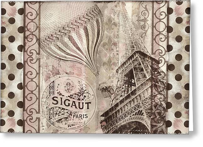 Paris Paintings Greeting Cards - When in Paris Greeting Card by Mindy Sommers
