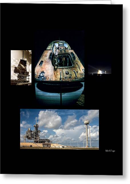Capsule Greeting Cards - When Man First Went To The Moon Greeting Card by Mark Fuge