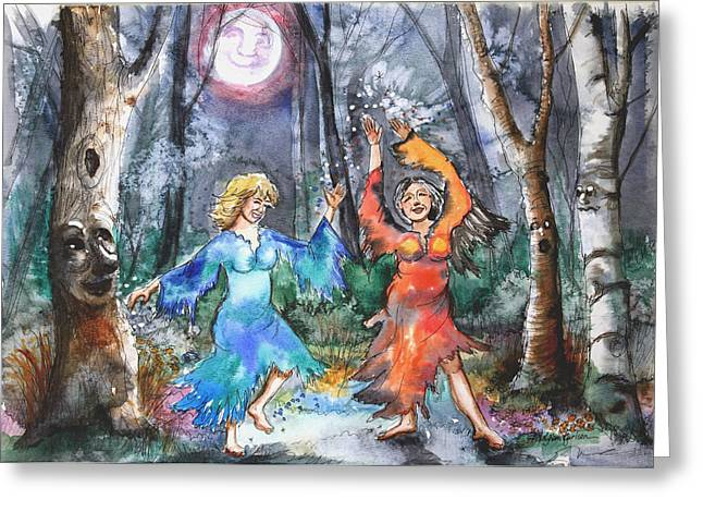 Middle Ages Greeting Cards - When Middle Aged Fairies.. Greeting Card by Patricia Allingham Carlson