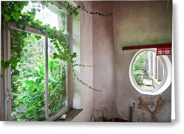 Old Home Place Greeting Cards - When nature takes over - Abandoned buildings Greeting Card by Dirk Ercken