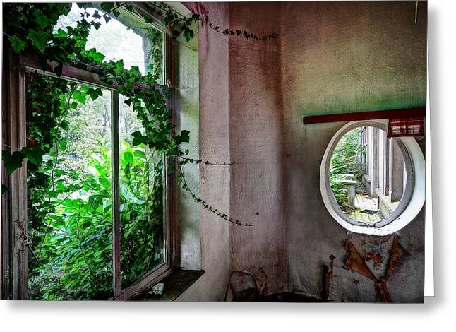 Ghost Castle Greeting Cards - When nature takes over - urban exploration Greeting Card by Dirk Ercken