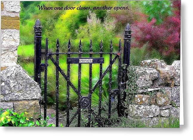 When One Door Closes Greeting Card by Jen White