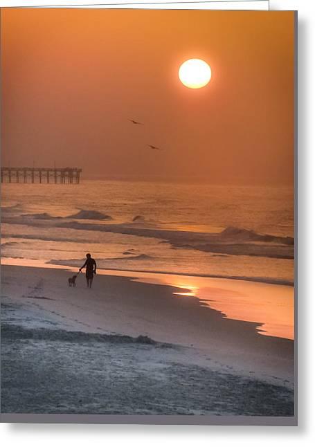 When Salt Is Sweet Greeting Card by Karen Wiles