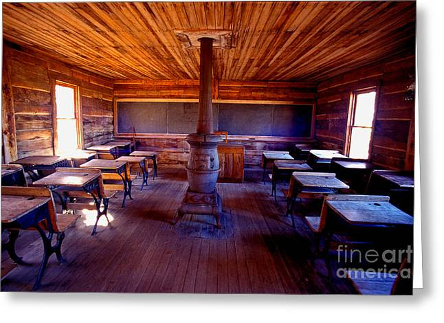 Wood Stove Greeting Cards - When school was in 1-room Greeting Card by Paul W Faust -  Impressions of Light