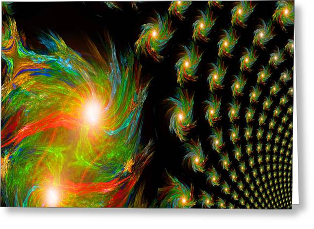 Soulmate Greeting Card featuring the digital art When Soulmates Meet by Michael Durst