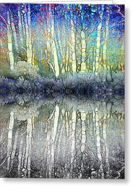 When The Forest Gets The Blues Greeting Card by Tara Turner