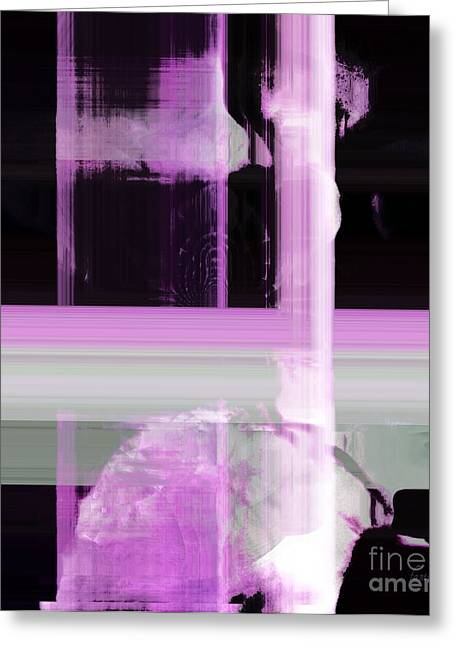 Misunderstanding Greeting Cards - When The Light Goes Purple  Greeting Card by Fania Simon
