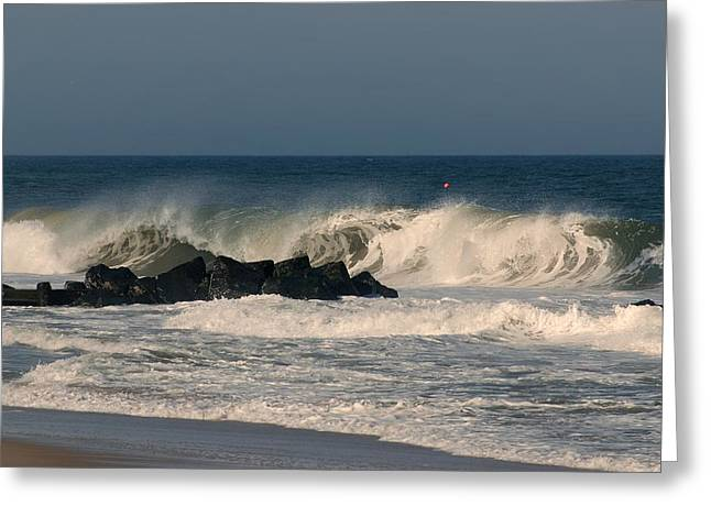When The Ocean Speaks - Jersey Shore Greeting Card by Angie Tirado