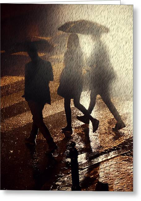 Pouring Greeting Cards - When the rain comes Greeting Card by Jaroslaw Blaminsky