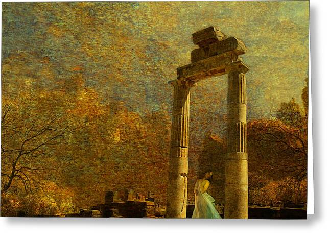 Roman Columns Greeting Cards - When The Sun Sets Greeting Card by Jeff Burgess