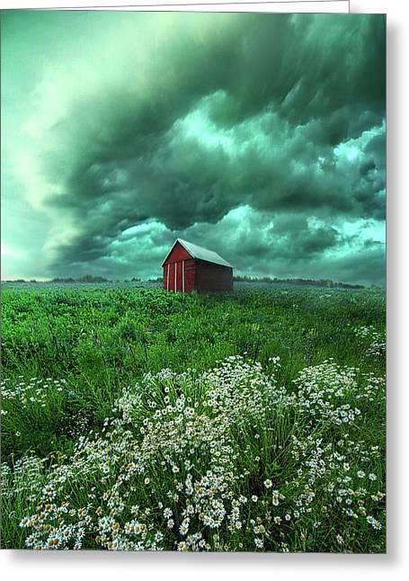 When The Thunder Rolls Greeting Card by Phil Koch