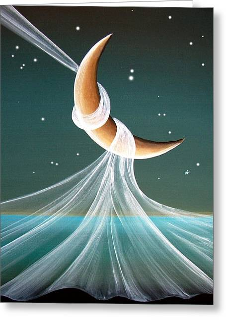 Imagination Greeting Cards - When The Wind Blows Greeting Card by Cindy Thornton