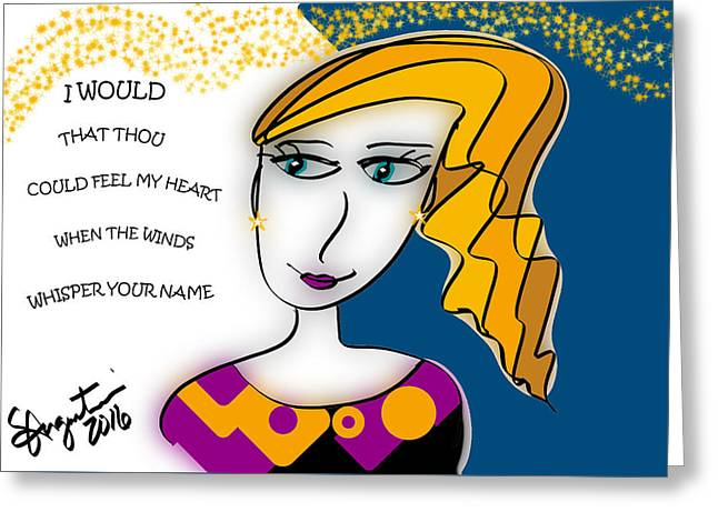 When The Winds Whisper  Greeting Card by Sharon Augustin