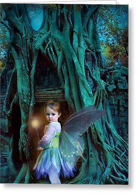 Children Greeting Cards - When Twilight Fades Greeting Card by Jean Hildebrant
