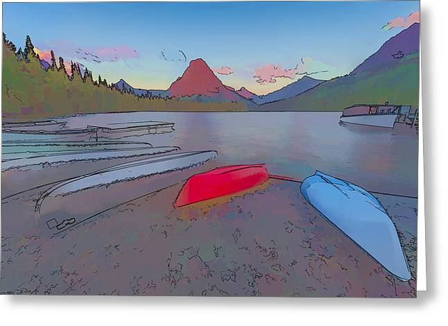 When Will We Row II Greeting Card by Jon Glaser