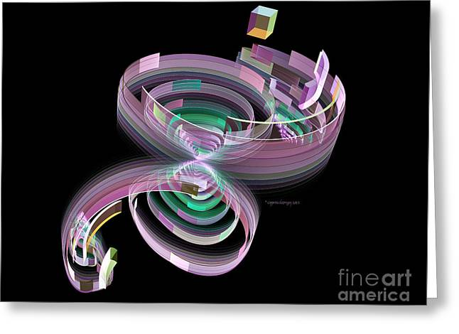 Geometric Art Greeting Cards - When Wormholes Collide Greeting Card by Jane Spaulding