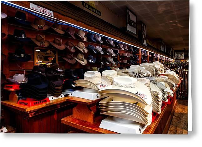 Where Cowboys Shop Greeting Card by Mountain Dreams