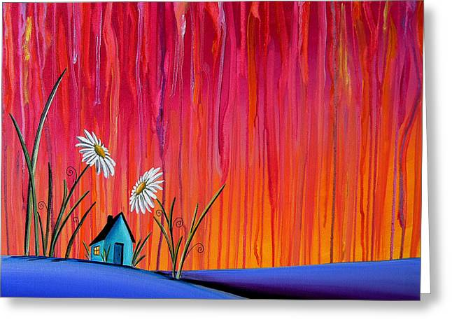 Fuschia Greeting Cards - Where Flowers Bloom Greeting Card by Cindy Thornton