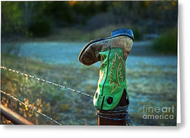 Where Good Boots Go Greeting Card by Fred Lassmann