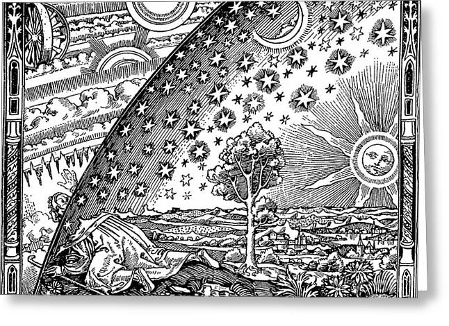 Missionary Greeting Cards - Where Heaven And Earth Meet 1888 Greeting Card by Science Source