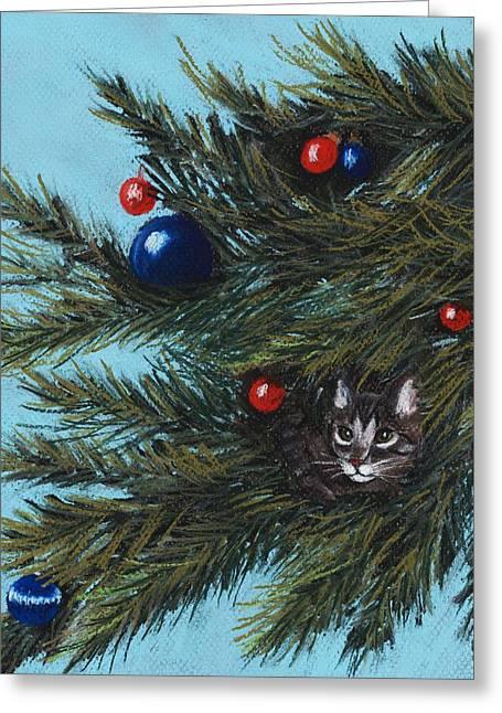Where Is Santa Greeting Card by Anastasiya Malakhova