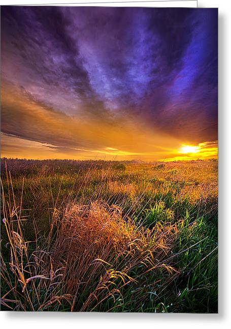Life Line Greeting Cards - Where the Billows of Memory Quiver Greeting Card by Phil Koch
