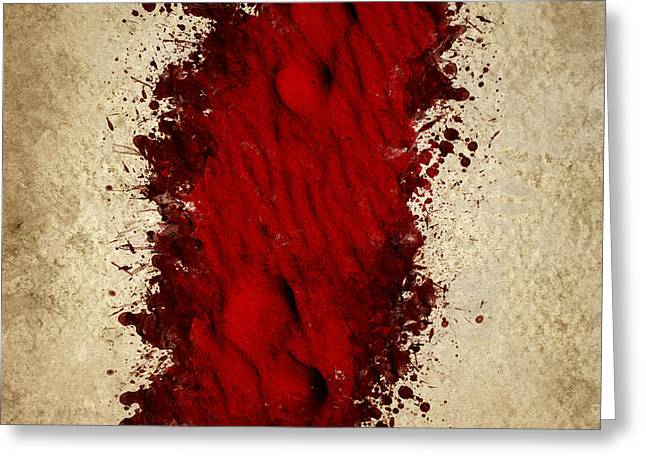 Bloodshed Greeting Cards - Where the blood trail leads Greeting Card by Ryan Jorgensen
