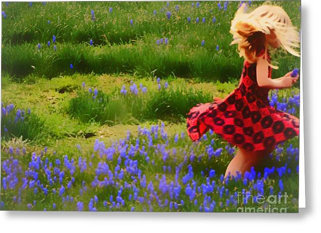 Where The Bluebells Bloom Greeting Card by Tami Quigley