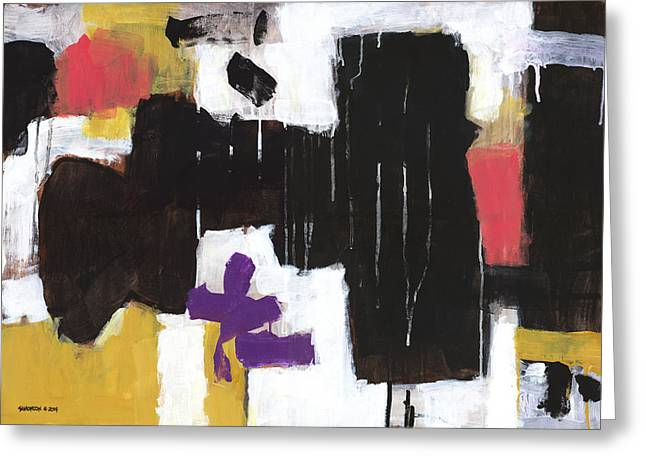 Abstract Expressionist Greeting Cards - Where the Flowers Were Greeting Card by Douglas Simonson