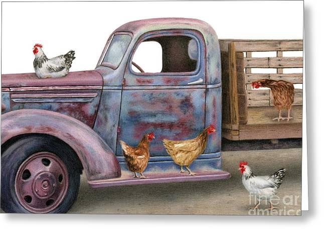 The Flock Spot  Greeting Card by Sarah Batalka