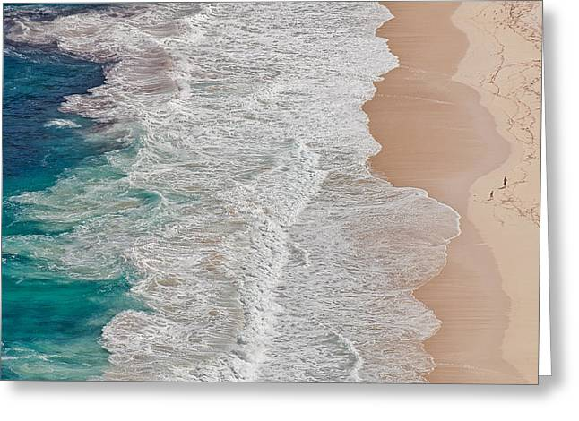 Beach Greeting Cards - Where The Ocean Ends... Greeting Card by Andreas Feldtkeller