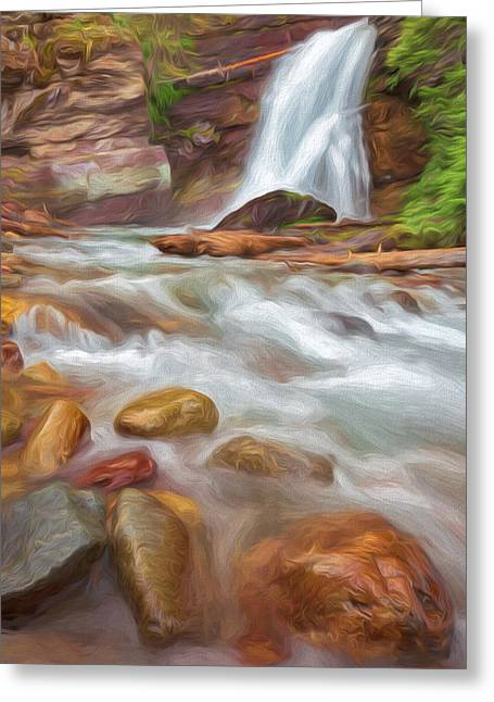 Where The Water Goes II Greeting Card by Jon Glaser
