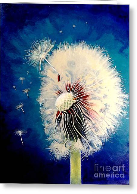 Ink Drawing Greeting Cards - Wherever the Wind takes Me Greeting Card by David Neace