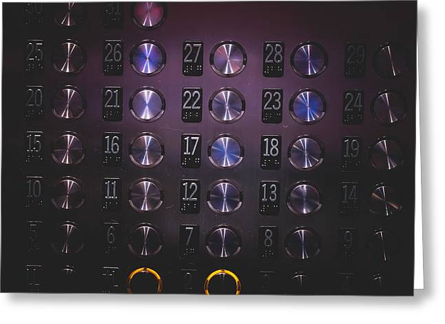 Confined Greeting Cards - Which Floor Please Greeting Card by Kevin Sequeira