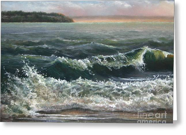 Windy Pastels Greeting Cards - Whidbey Island Life Greeting Card by Sandy  Byers