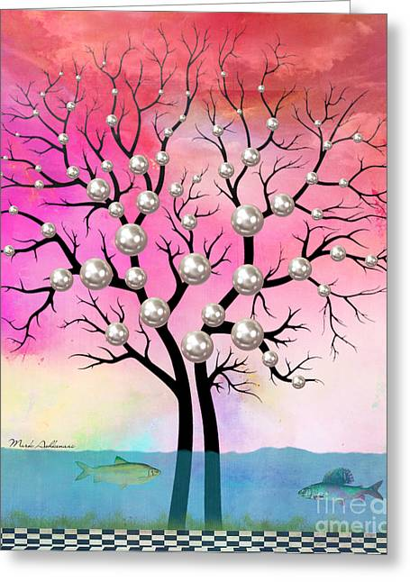 Optimism Greeting Cards - Whimsical Greeting Card by Mark Ashkenazi