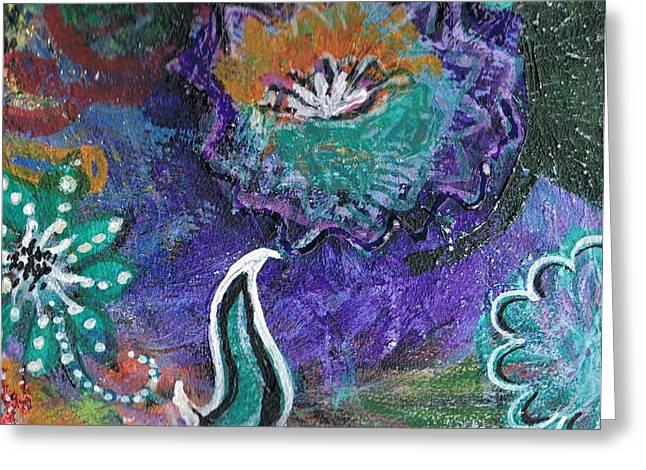 Whimsy Dance Greeting Card by Anne-Elizabeth Whiteway