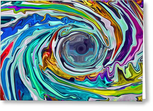 Abstract Digital Digital Art Greeting Cards - Whirled Greeting Card by Russell Cottengain