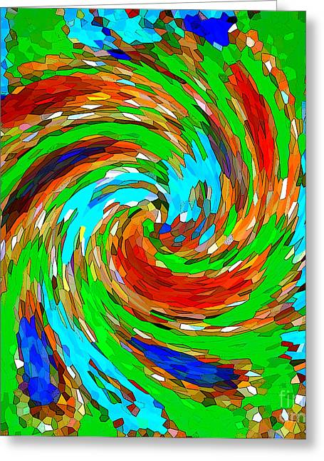 Whirlwind - Abstract Art Greeting Card by Carol Groenen