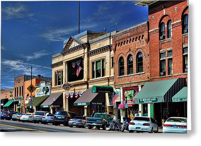 Whiskey Row - Prescott  Greeting Card by Saija  Lehtonen