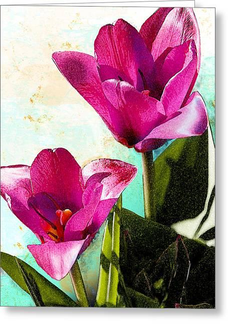 Fushia Greeting Cards - Whispering Dream Greeting Card by Lynne Furrer