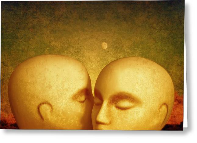 Conversation Piece Greeting Cards - Whispers Greeting Card by Jeff  Gettis